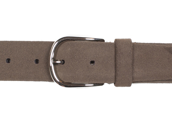 Tubular Belt - Dark Brown Suede