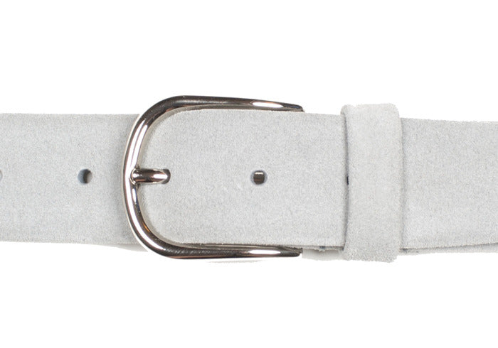 Tubular Belt - Gray Suede