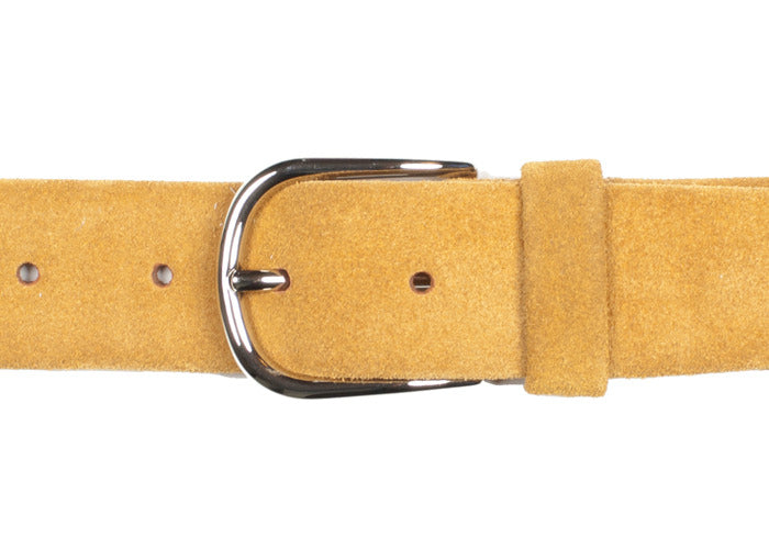 Tubular Belt - Tobacco Brown Suede