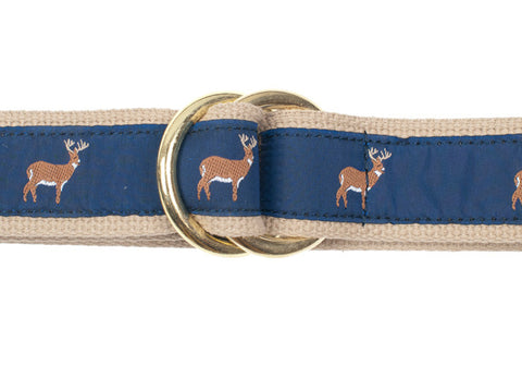 Ribbon Surcingle Belt - Deer