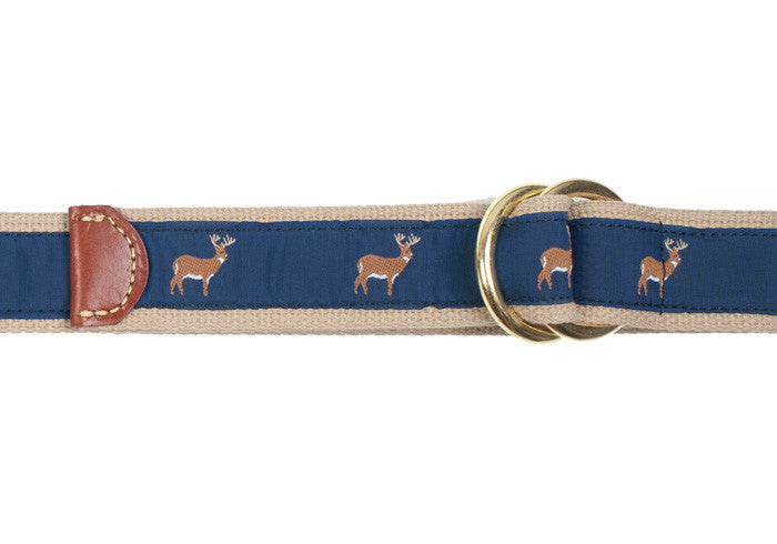 Ribbon Surcingle Belt - Deer - XL