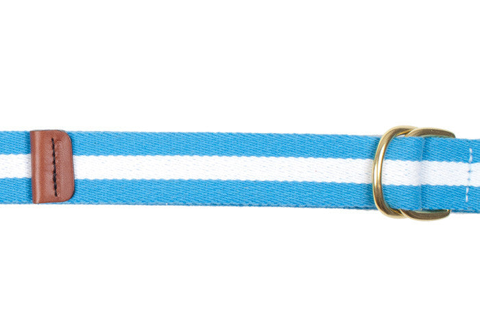Surcingle Belt - Light Blue and White Stripe