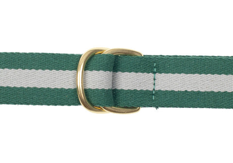 Surcingle Belt - Green and Gray Stripe - L