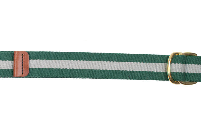 Surcingle Belt - Green and Gray Stripe