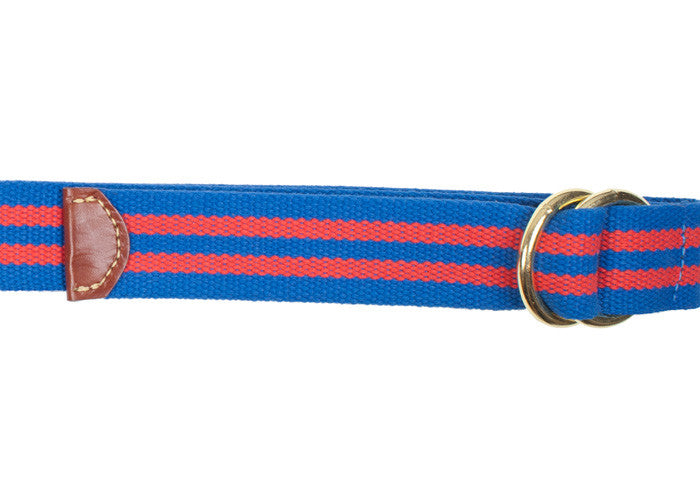 Double O-Ring Belt - Blue and Red