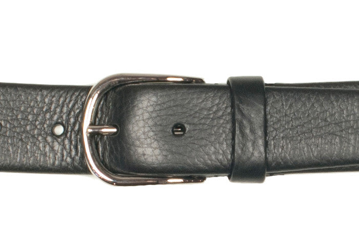 Tubular Belt - Black Deerskin
