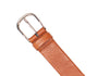 Tubular Belt - Brown/Orange Deerskin