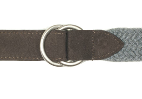 Wool and Suede Belt - Gray/Brown - 40