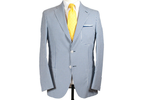 Cotton and Silk Gingham Jacket