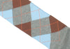Argyle Cotton Calf Socks - Gray, Blue, Brown