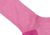 Herringbone Cotton HY Calf Socks - Raspberry
