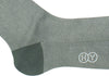 Herringbone Cotton Calf Socks - Gray