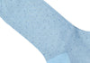 Pindot Cotton HY Calf Socks - Light Blue