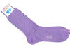 Pindot Cotton HY Calf Socks - Purple