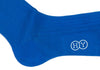 Ribbed Cotton Calf HY Socks - Bright Blue