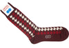 Big Houndstooth Wool HY Calf Socks - Bordeaux
