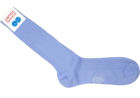 Ribbed Wool Calf Socks - Wisteria