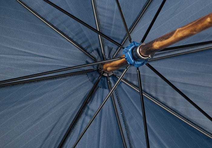 Pinstripe Chestnut Umbrella - Blue