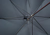 Dark Brown Ash Sleek Umbrella - Green
