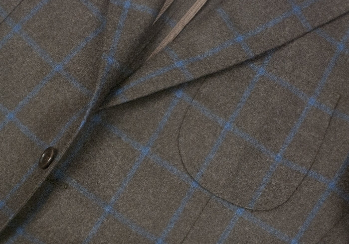 Windowpane Jacket - Brown and Blue