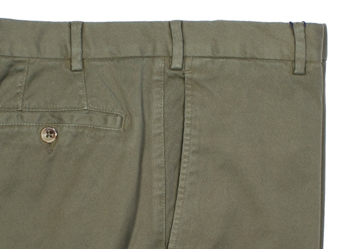 Green Garment Dyed Cotton Pants - EU 52 / US 36