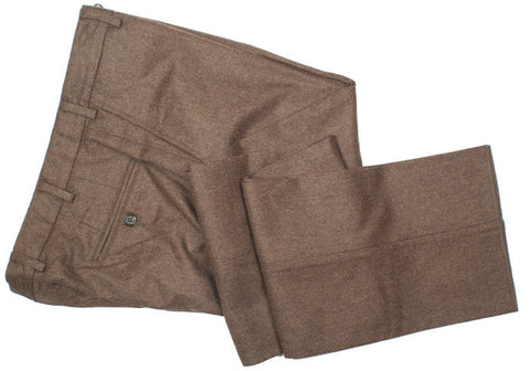 Lambswool Flannel Pants - Brown