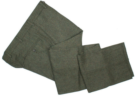 Moon Donegal Tweed Pants - Green