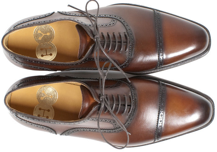 Mahogany Calf Captoe Brogues