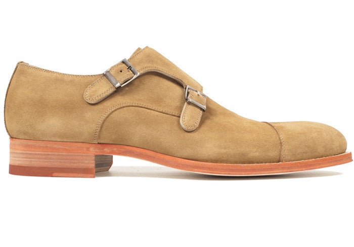 Tan Suede Double Monk Strap
