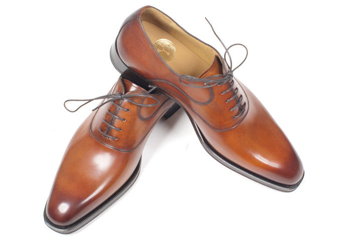 Cognac Brown Calf Saddle Shoe - Size 10.5
