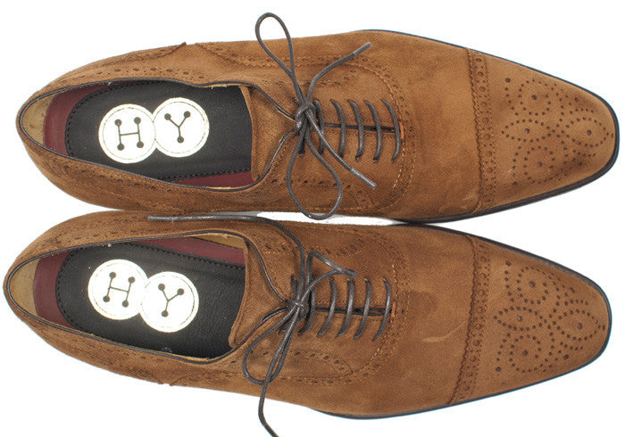 Brandy Suede Captoe Brogues