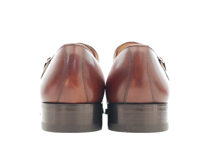 Cognac Brown Double Monk Strap