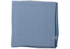 Washed Silk Gingham Pocket Square - Navy