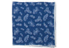 Washed Silk Paisley Pocket Square - Blue