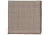 Silk Grid Plaid Pocket Square - Brown