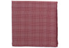 Silk Grid Plaid Pocket Square - Red