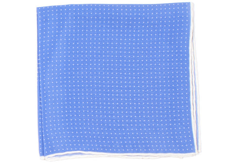 Silk Pindot Pocket Square - Light Blue