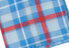 Plaid Silk Pocket Square - Blue and Red