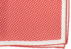 Silk White Dot Square - Red