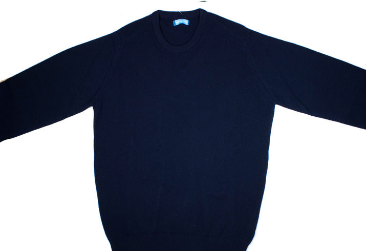 Cashmere Crewneck - Dark Navy - XL