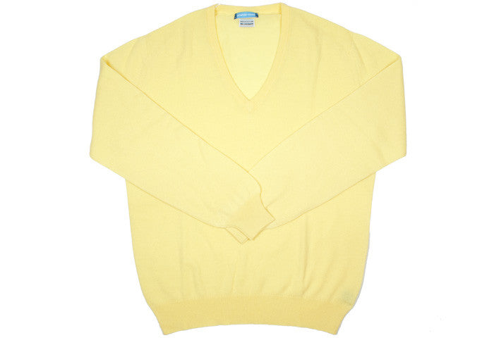 Cashmere V-Neck - Sunlight - S