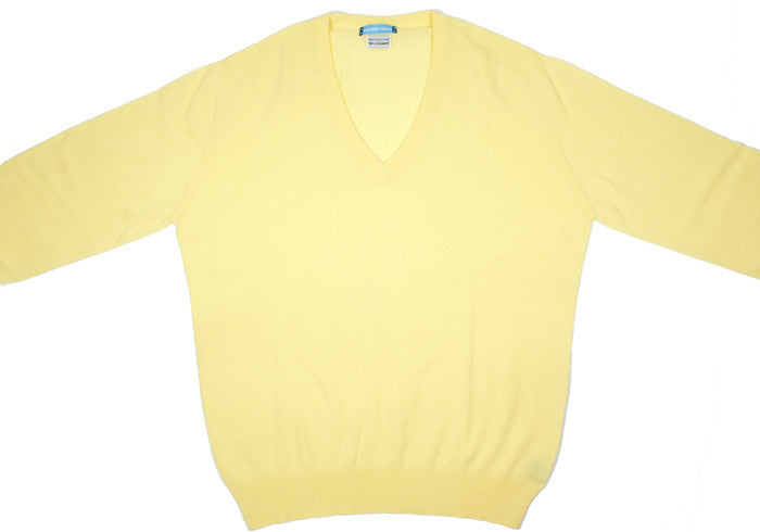 Cashmere V-Neck - Sunlight