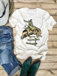 Retro Bucking Horse Tee - Ranch-Land Western Store
