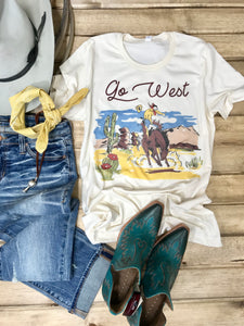 Go West Tee - Ranch-Land Western Store