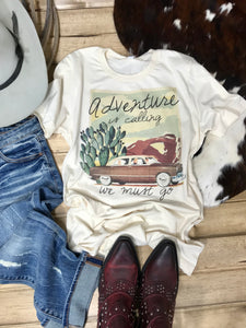 Adventure Is Calling Tee - Ranch-Land Western Store