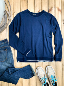 Dear John Metallic Hem Crew Neck Pullover - Ranch-Land Western Store