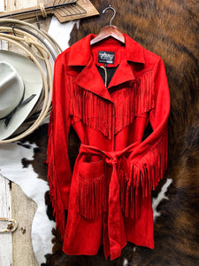 Red Suede Fringe Jacket - Ranch-Land Western Store