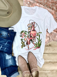 Saddled Up Señorita Tee - Ranch-Land Western Store