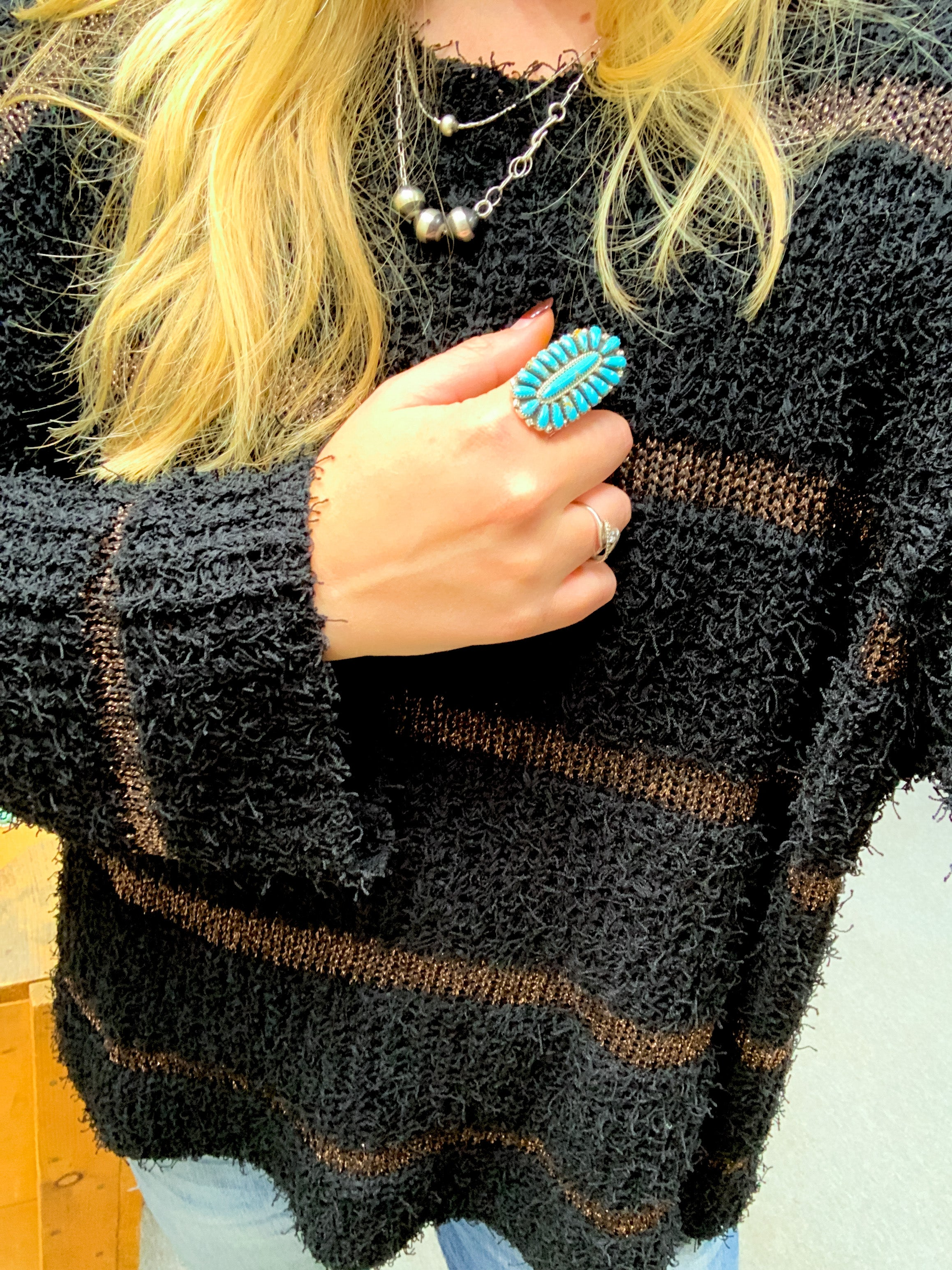 Black & Copper Mohair Sweater - Ranch-Land Western Store