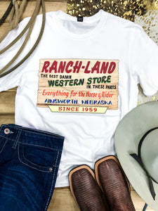 60th Anniversary Sale Barn Tee - Ranch-Land Western Store